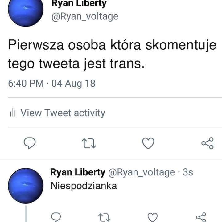 trans niespodzianka